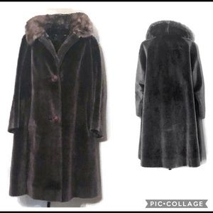 Vintage Russel Taylor faux Fur with beaver collar